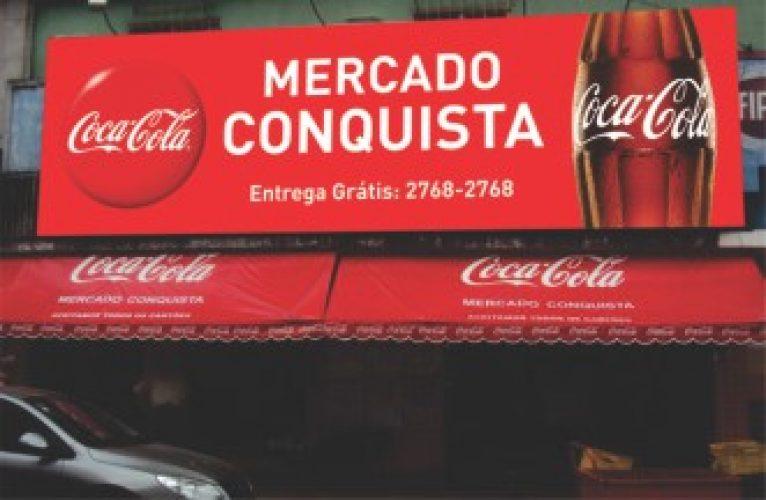 Letreiro de Fachada - Mercado Conquista